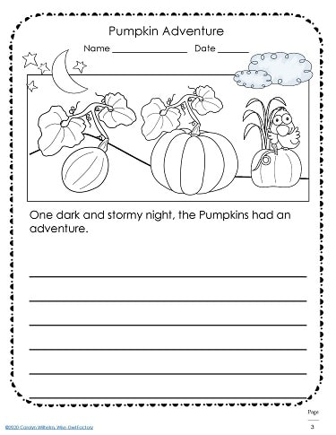 Pumpkin writing adventure fiction prompt