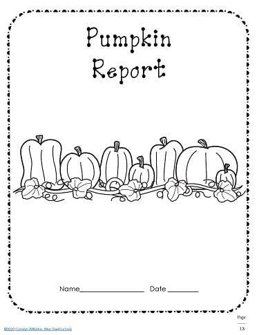 Pumpkin Report Cover Page