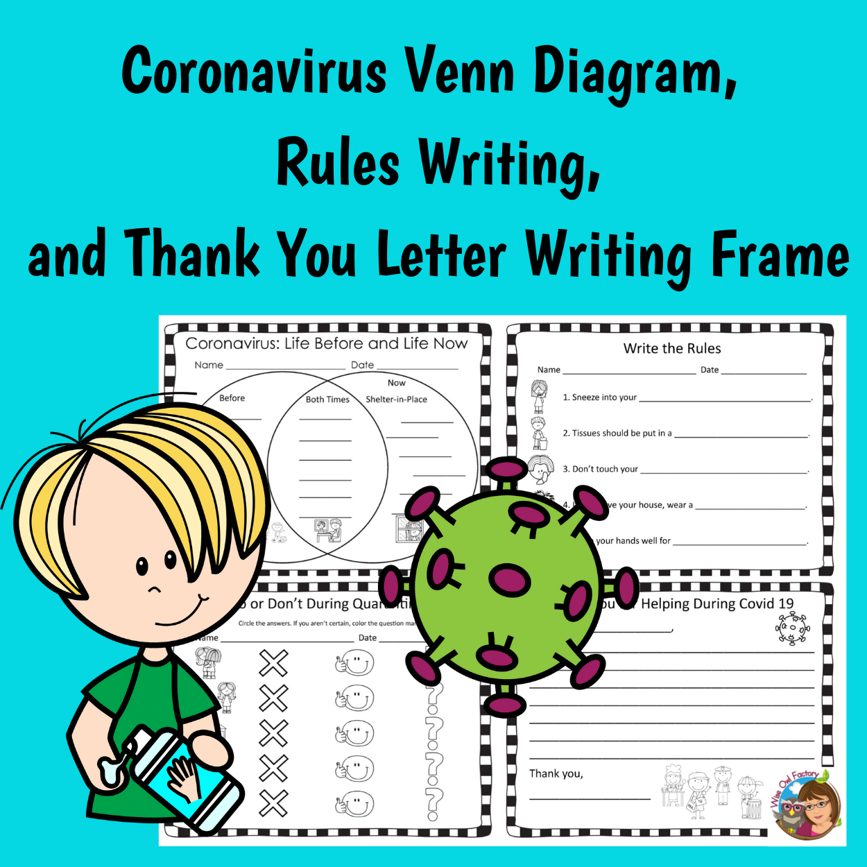 Covid-19 Venn Diagram, Rules, and Thank You Letter Free