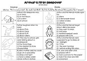Arthurs-first-sleepover-multiple-choice-answer-worksheet
