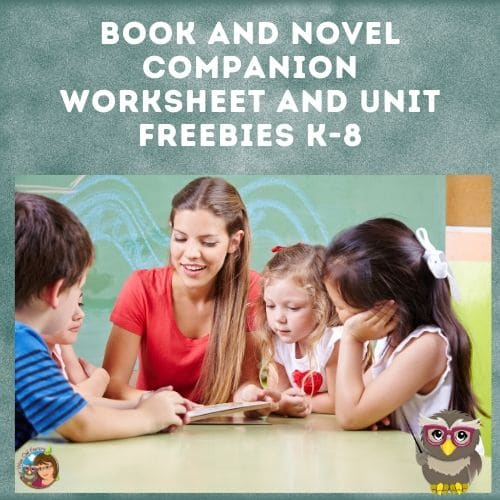 books-and-novel-companion-free-work-pages-and-units-for-K-8