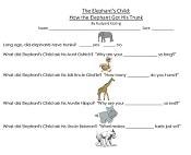 Elephant's Child Free Work page