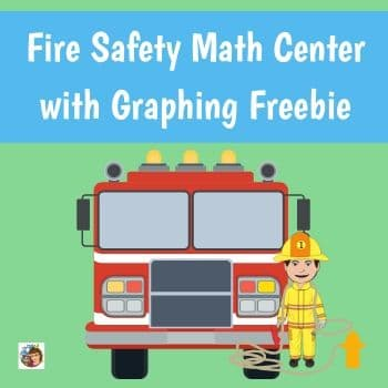 fire-safety-graphing-math-center-for-October-free-K-2