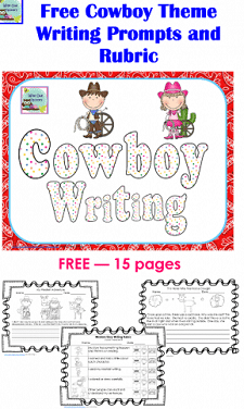 free 15 page cowboy writing western theme
