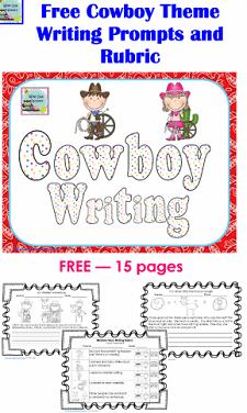 free 15 page cowboy writing western theme