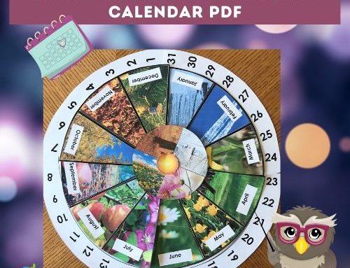 Rotating Numbers Circular Calendar Printable PDF