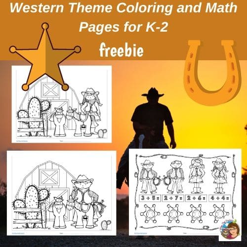 western-theme-coloring-and-math-pages-free-instant-download