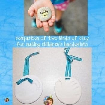 Comparison of Two Kinds of Clay for Children's Handprints
