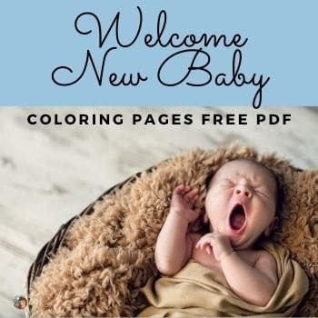 New Baby Coloring Pages Free Printable
