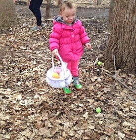 looking-for-eggs-on-trails-at-Eastman-Nature-Center