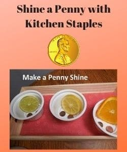 Penny Cleaning Science Experiment Using Kitchen Staples