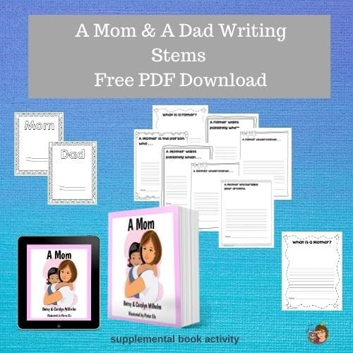 a-mom-a-dad-writing-stems-PDF-download-freebie-supplemental-book-activity