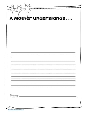 A mother understand writing frame