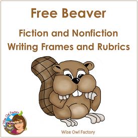 beaver-writing-frames-printable