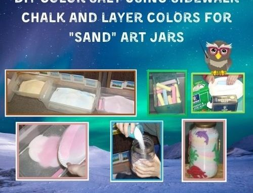 Colored Salt Art Jars Project How To