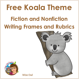 koala-writing-frames-printable