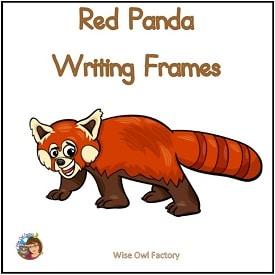 red-panda-writing-frames-printable