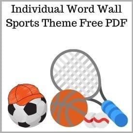 Individual Sports Word Wall