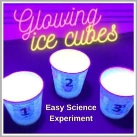Glowing Ice Cubes Easy Home Science Experiment