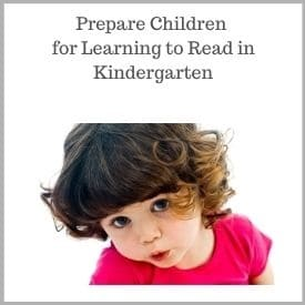 Prepare for Learning to Read in Kindergarten