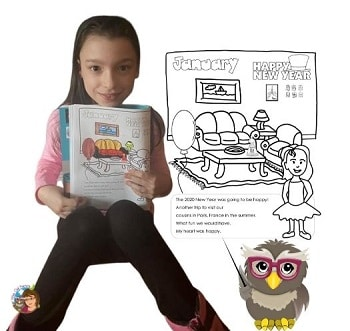 Miss-Owl-Coloring-the-book-with-gel-pens