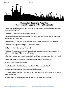 Guinevere-one page of discussion questions