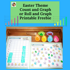 Easter-Theme-Graphing-Count-Roll-Graph-Freebie