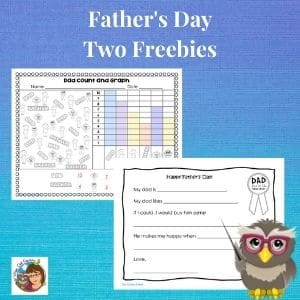 Fathers-day-two-freebies-graphing-and-writing