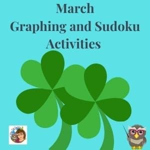 Free March Sudoku and Graphing Activities Pre K, K and 1