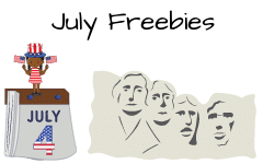 July Educational Resources Freebies