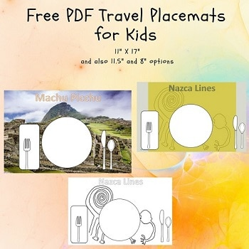 Machu Picchu and Nazca Lines Placemats Free Download
