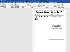 make-your-own-newsletter-using-word-and-insert-table