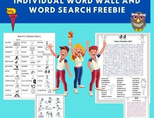Summer Olympic Individual Word Wall and Word Search
