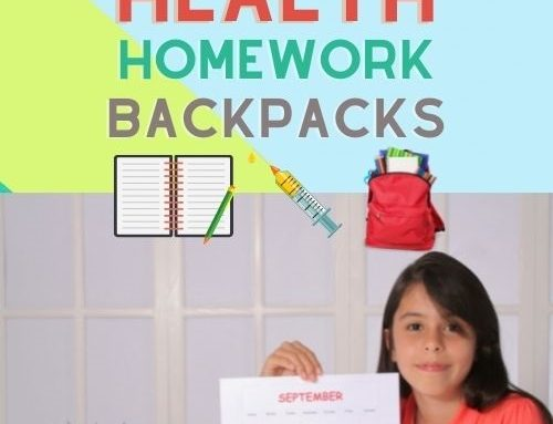 Back to School and Thinking About Health, Backpacks, and Homework