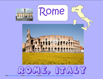 Free Rome work pages and answer keys photo
