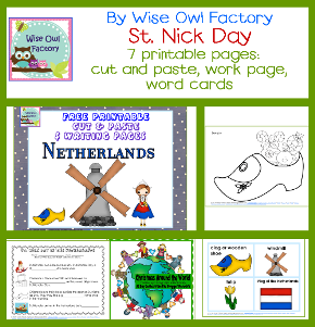 cut and paste craft for St. Nick Day in the Netherlands