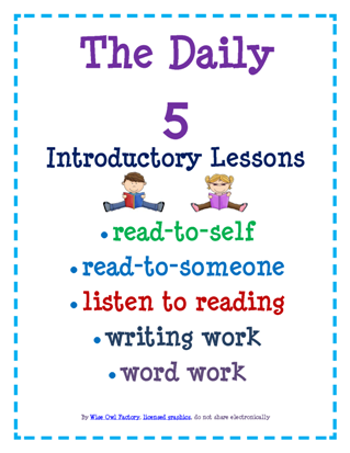 free daily 5 unofficial lessons