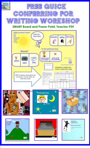free presentations and printables for conferring during writing workshop photos of slides and pages