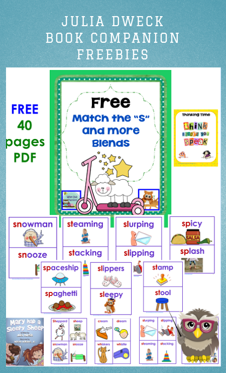 S-Blends Words and Pocket Chart Cards Free PDF