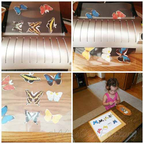 idea for matching activities using a laminator
